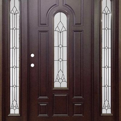 Dark Walnut Single Exterior Fiberglass Entry Door Two Sidelites FM 280 & Single Doors w/ Sidelite Archives - Jeunesse Wood Door Inc ...