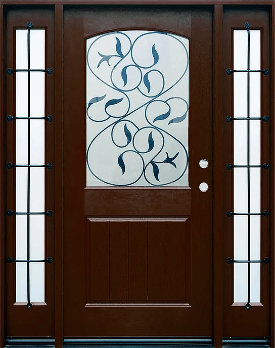 Fm200i Dark Walnut Single Exterior Fiberglass Door Two