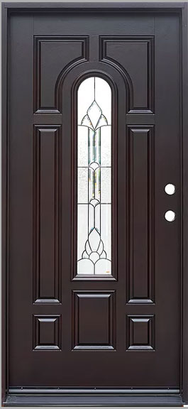 Fm 280 Dark Walnut Single Exterior Entry Door Jeunesse