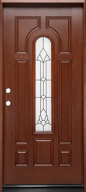 Fm 280 Mahogany Single Exterior Entry Door Jeunesse Wood Door Inc