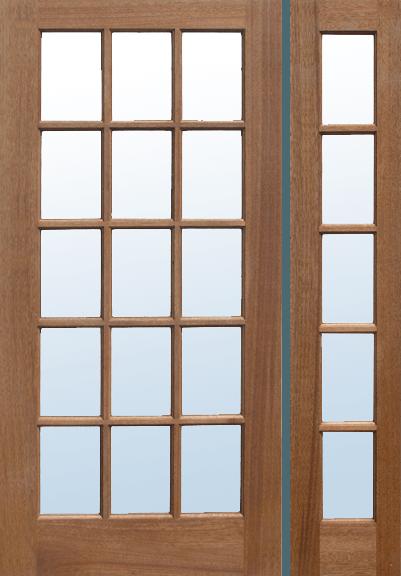 Mf15 Mahogany French Patio Exterior Door Jeunesse Wood Door Inc
