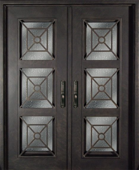 S516phxx 54 Steel 64 X 81 Double Exterior Iron Entry Doors