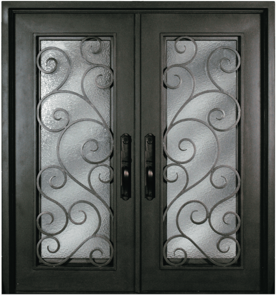 S516shxx 54 Steel 64 X 81 Double Exterior Iron Entry Doors Jeunesse Wood Door Inc