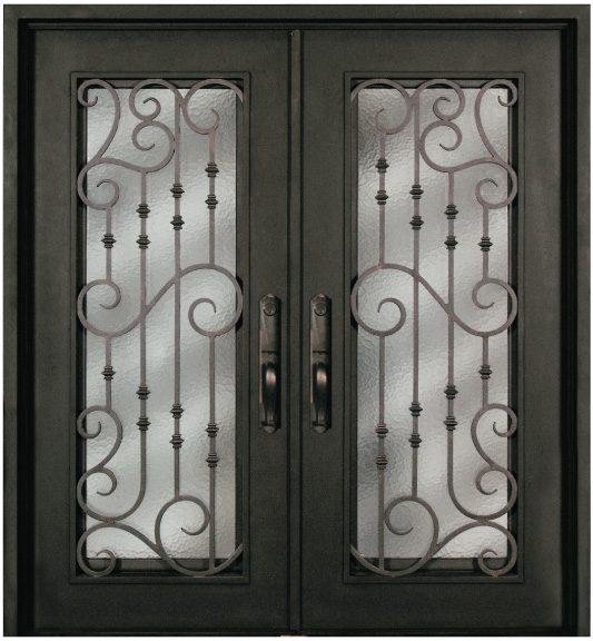 S516whxx 54 Steel 64 X 81 Double Exterior Iron Entry Doors