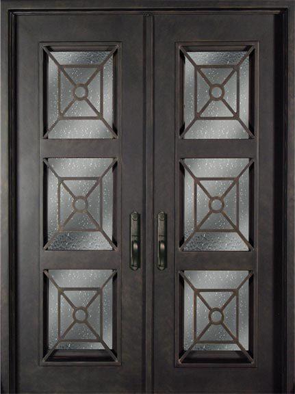 s816phxx 61 steel 73 5 x 96 double exterior iron entry doors