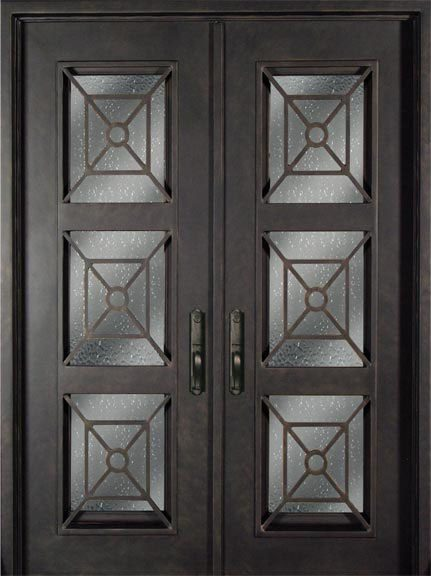 S816phxx 54 Steel 64 X 96 Double Exterior Iron Entry Doors