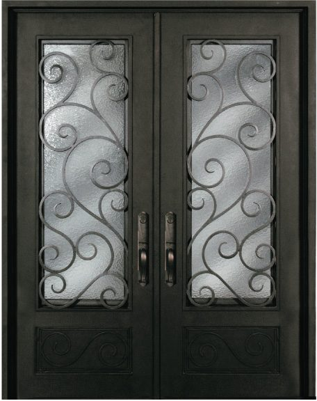 S818shxx 61 Steel 735 X 96 Double Exterior Iron Entry Doors