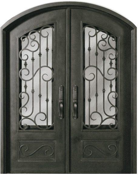 Ss518whxx 54 Steel 64 X 82 Double Exterior Iron Entry Doors