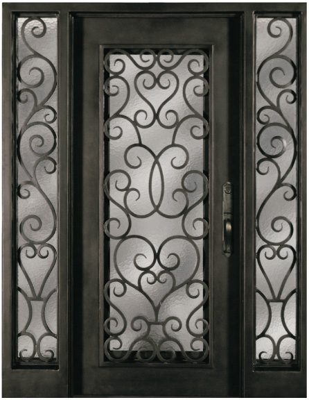 S516shoxo 51 61 Steel Double Exterior Iron Entry Doors Two
