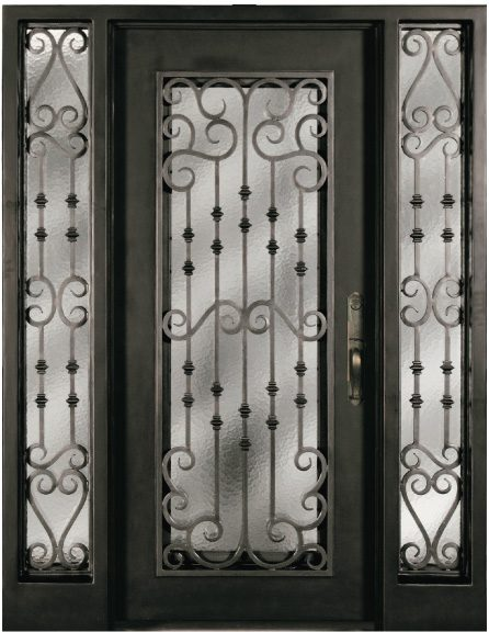 S516whoxo 51 61 Steel Double Exterior Iron Entry Doors Two