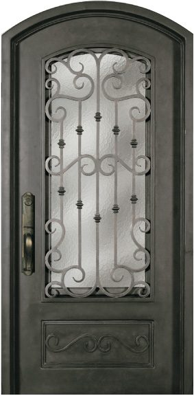 SS518WHX-34 Steel Single Exterior Iron Entry Door - Jeunesse Wood ...