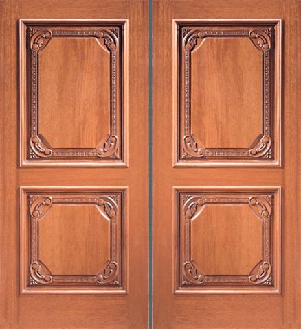 610 Mahogany Craftsman Double Wood Exterior Door Jeunesse Wood