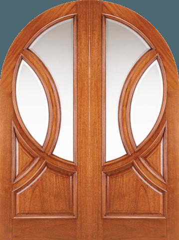 150 Saint Michelle Mahogany European Double Wood Exterior Door