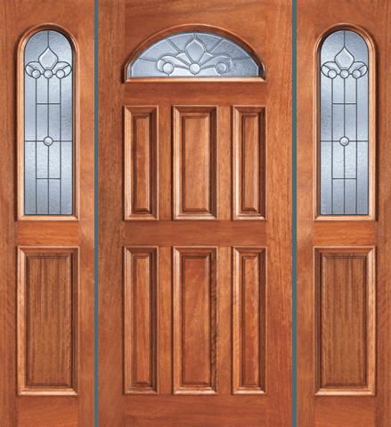 103 A Mahogany Single Unique Entry Wood Exterior Door Jeunesse