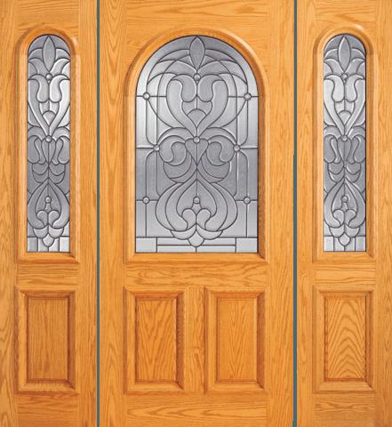 107 A Red Oak Single Unique Entry Wood Exterior Door Jeunesse Wood