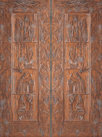 Mahogany Double Exterior Wood Door 40 El Vino Jeunesse