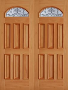 TRM75B Mahogany Premier Double Wood Exterior Door